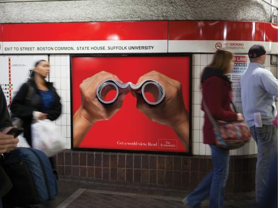 The Economist Outdoor Ad -  Binoculars