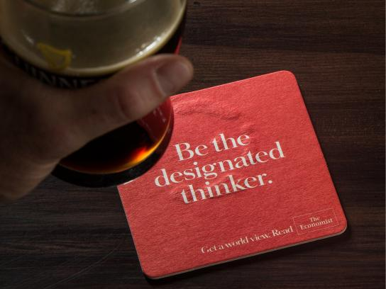 The Economist Direct Ad -  Coaster, 2