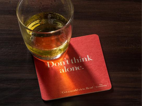 The Economist Direct Ad -  Coaster, 1