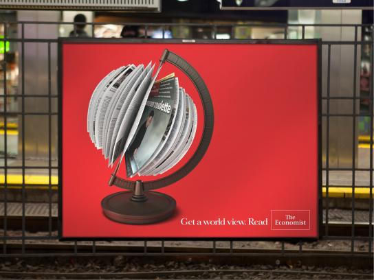 The Economist Outdoor Ad -  Globe