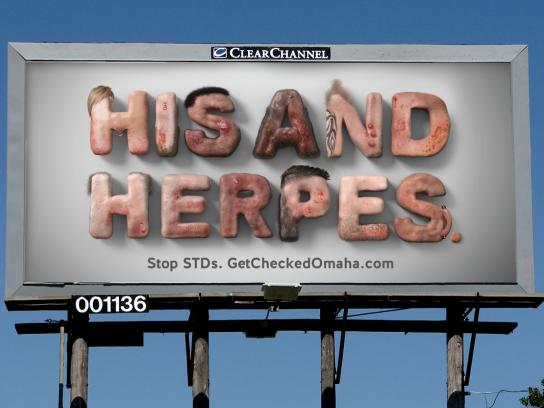 Get Checked Omaha Outdoor Ad -  Herpes