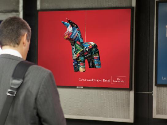 The Economist Outdoor Ad -  Piñata