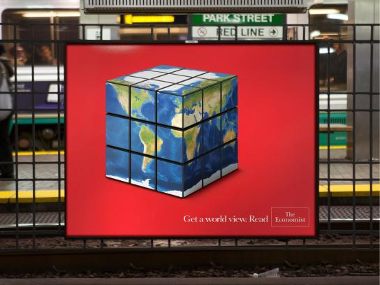 The Economist Outdoor Ad -  Rubik's Cube
