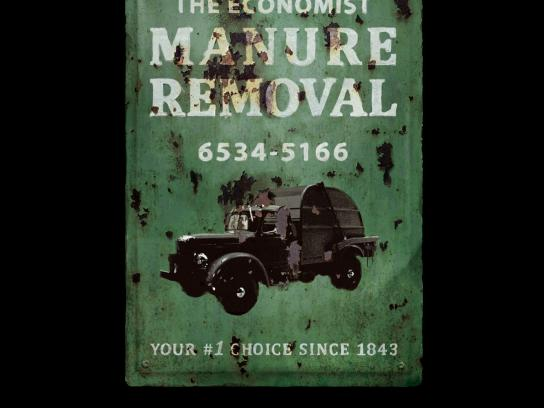 The Economist Print Ad -  Manure Removal