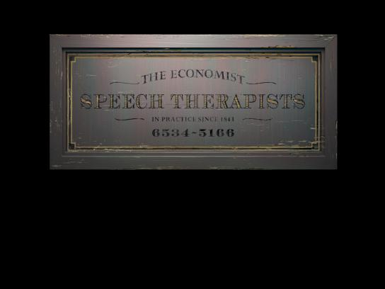 The Economist Print Ad -  Speech Therapists