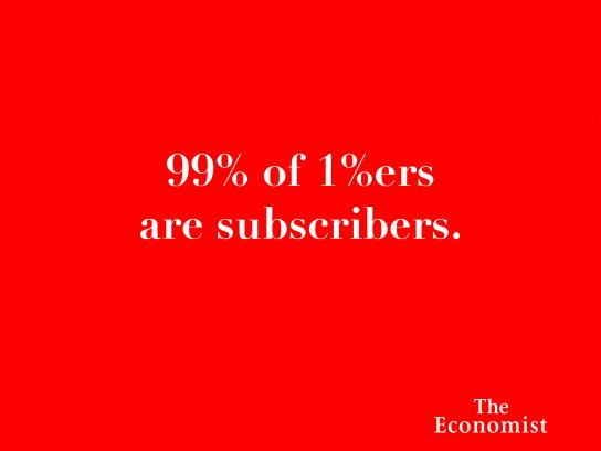 The Economist Print Ad - Headlines - One Percenters