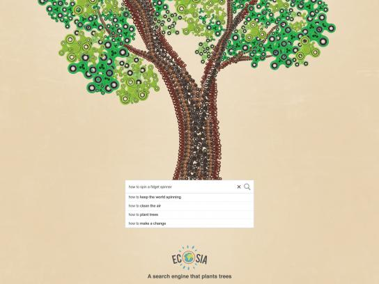 Ecosia Print Ad - Every Search Counts - Fidget
