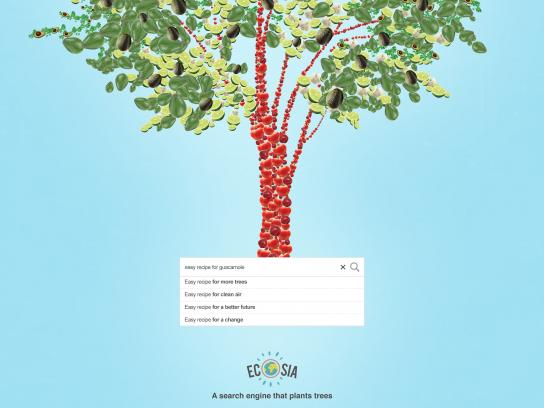 Ecosia Print Ad - Every Search Counts - Guacamole