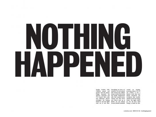 Ecotricity Print Ad -  Nothing happened