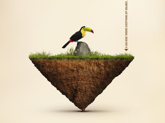 Ecovia Print Ad -  Balance of Nature, 1