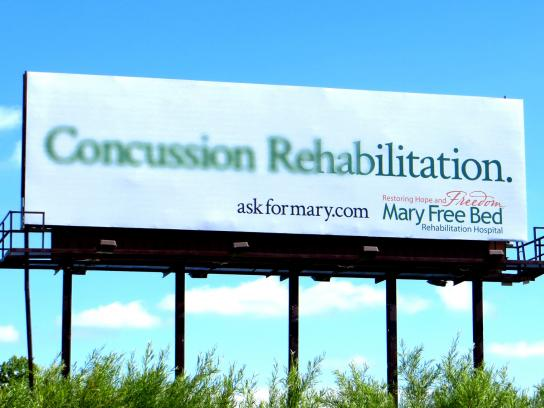 Mary Free Bed Rehabilitation Hospital Outdoor Ad -  Concussion Rehabilitation