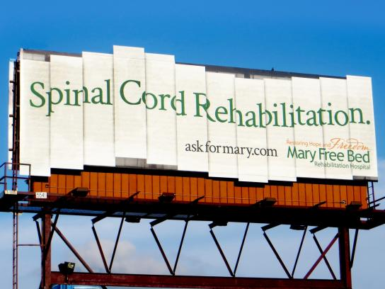 Mary Free Bed Rehabilitation Hospital Outdoor Ad -  Spinal Cord Rehabilitation