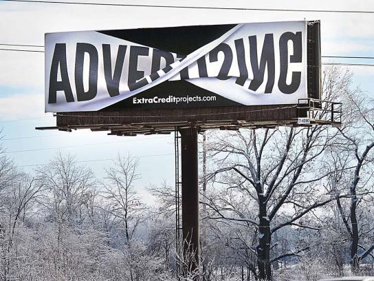 Extra Credit Projects Outdoor Ad -  Advertising with a twist