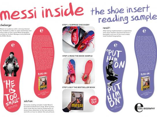 Edel Books Direct Ad -  Shoe insert reading sample