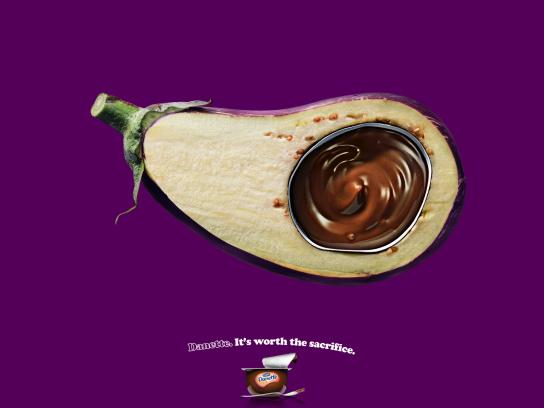 Danone Print Ad -  Eggplant
