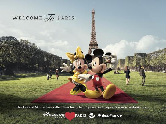 Disneyland Paris Print Ad - Eiffel Tower