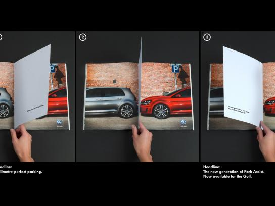 Volkswagen Print Ad -  Millimetre-perfect parking