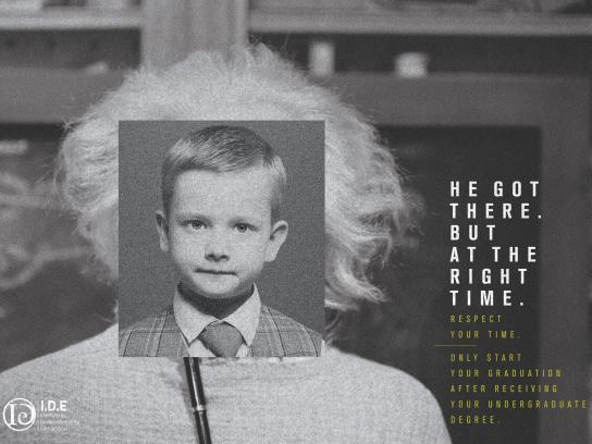 IDE Cursos Print Ad - Einstein
