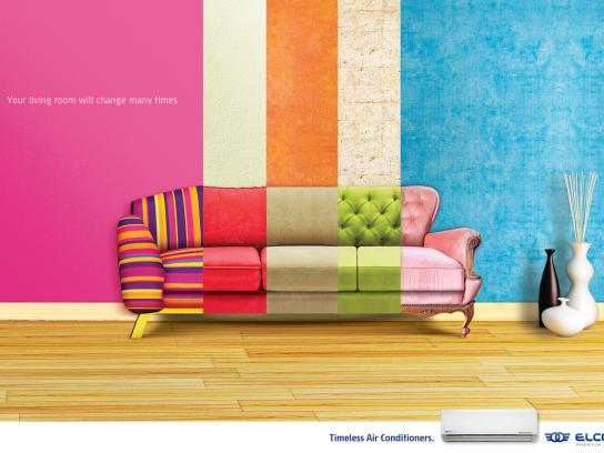 ELCO Premium Air Print Ad -  Living room