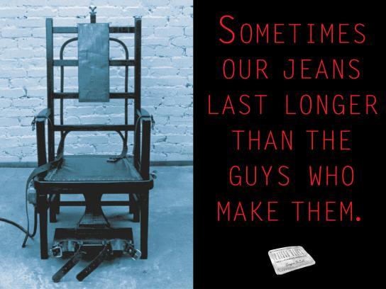 Prison Blues Print Ad - Electric Chair Sometimes