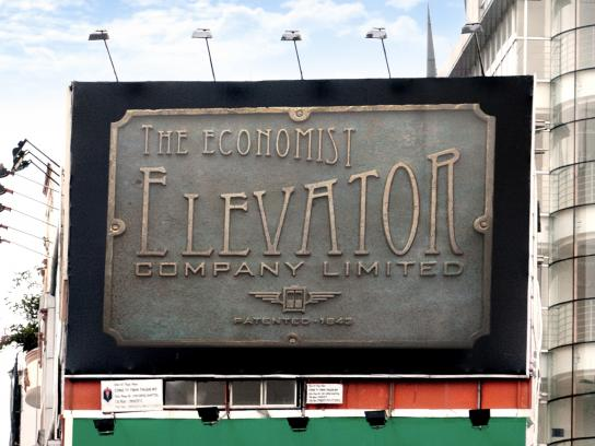 The Economist Outdoor Ad -  Signs, Elevator
