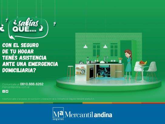 Mercantil Andina Print Ad - Emergency