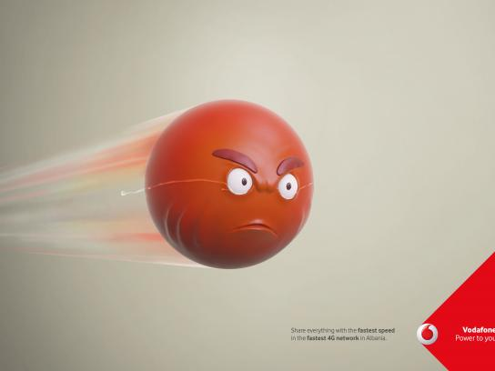Vodafone Print Ad - Speed Tears, 2