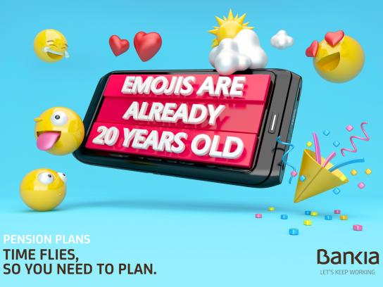 Bankia Print Ad -  Emojis