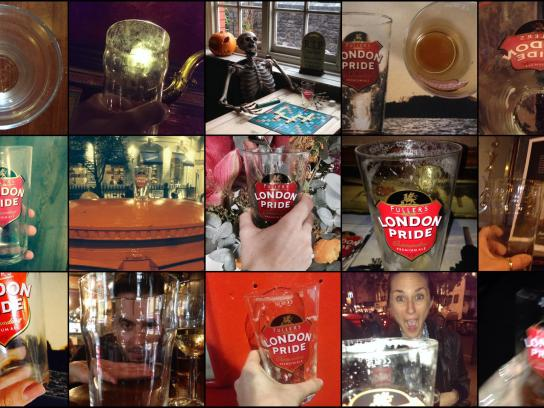 Fuller's Ambient Ad -  Empty Pint