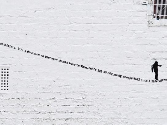 End Youth Homelessness Print Ad - Balancing