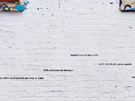 End Youth Homelessness Print Ad - Hanging