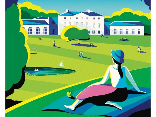 Transport for London Print Ad -  Enjoy the countryside