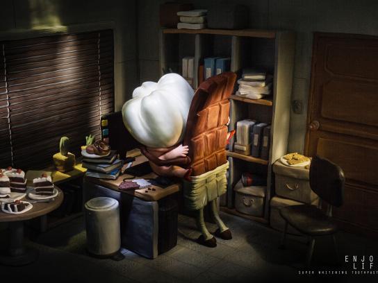 Ijota White Print Ad -  Chocolate