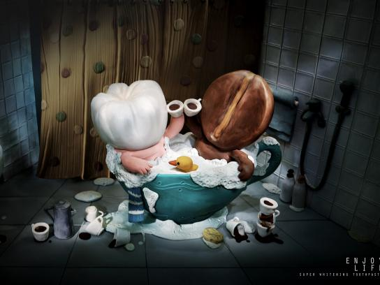 Ijota White Print Ad -  Coffee