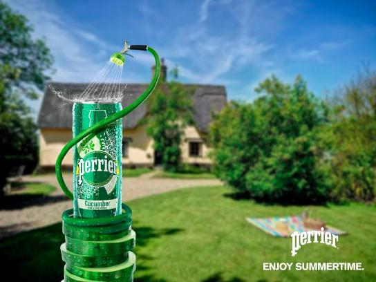 Perrier Print Ad - Enjoy Summertime - Cucumber