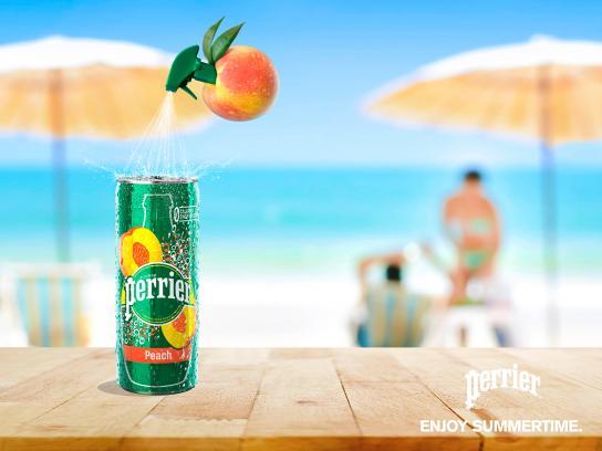 Perrier Print Ad - Enjoy Summertime - Peach