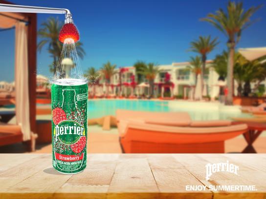 Perrier Print Ad - Enjoy Summertime - Strawberry