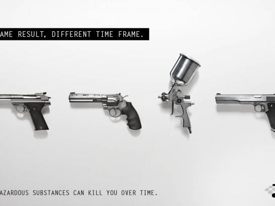 Environmental Protection Authority Print Ad -  Hand guns