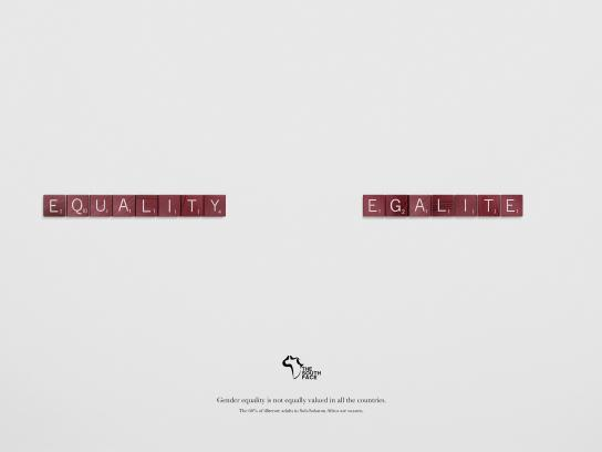 The South Face Print Ad -  Equality