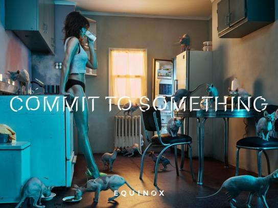 Equinox Print Ad -  Commit to something, 2