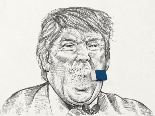 Faber Castell Print Ad - Erasing Mistakes - Trump