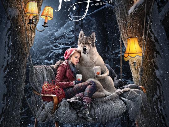 Coffee Inn Print Ad -  Forest Fairytale