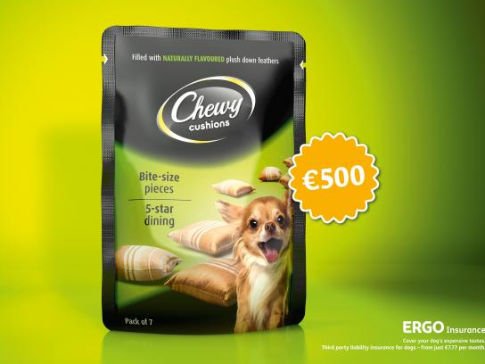 Ergo Insurance Outdoor Ad -  Chewy Cushions