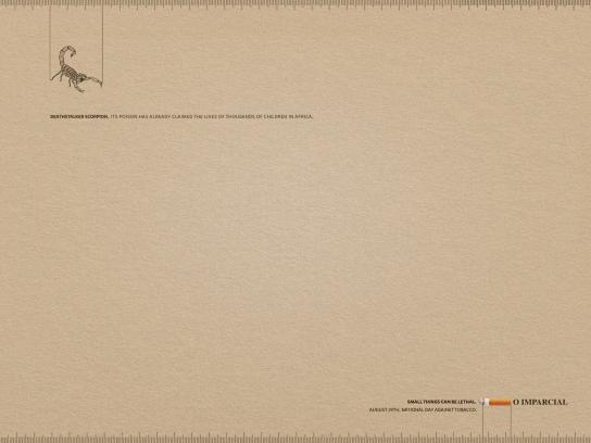 O Imparcial Print Ad -  Deathstalker Scorpion