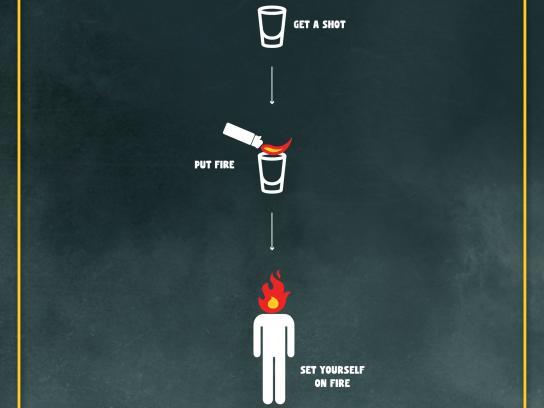 Emporio Soares & Souza Print Ad -  Flaming shot