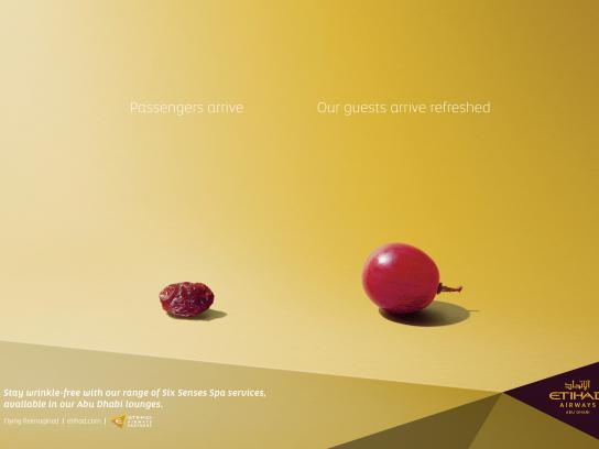 Etihad Airways Outdoor Ad - Grape