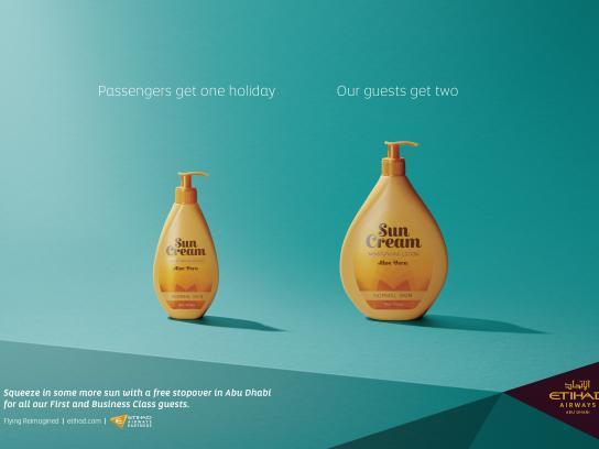 Etihad Airways Outdoor Ad - Sun cream