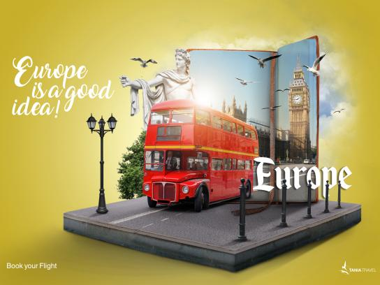 Tania Travel Print Ad - Europe