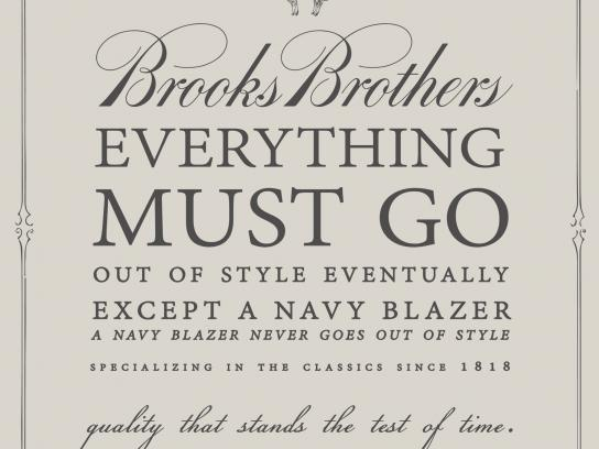 Brooks Brothers Print Ad -  Quality that stands the test of time, 2
