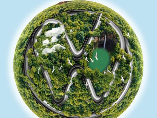 Volkswagen Print Ad - Green Planet